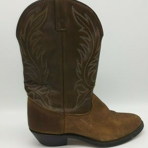 Laredo Lea Vamp Fox Western Cowboy Boots 9.5 US